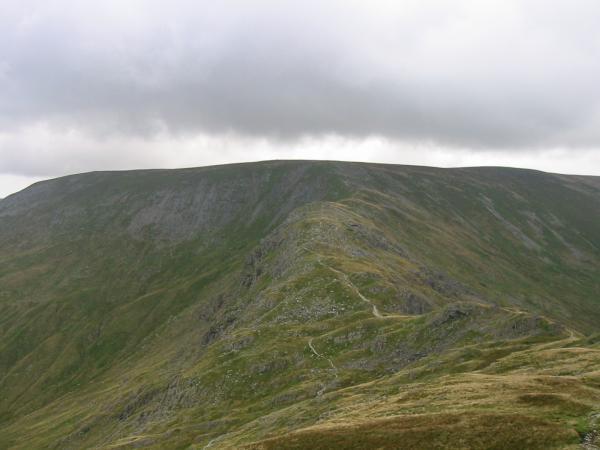 Nan Bield Pass and the ridge onto Harter Fell