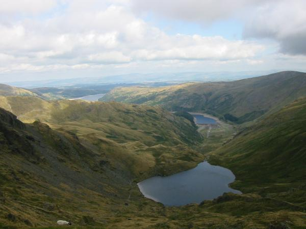 Small Water and Haweswater from above Nan Bield Pass