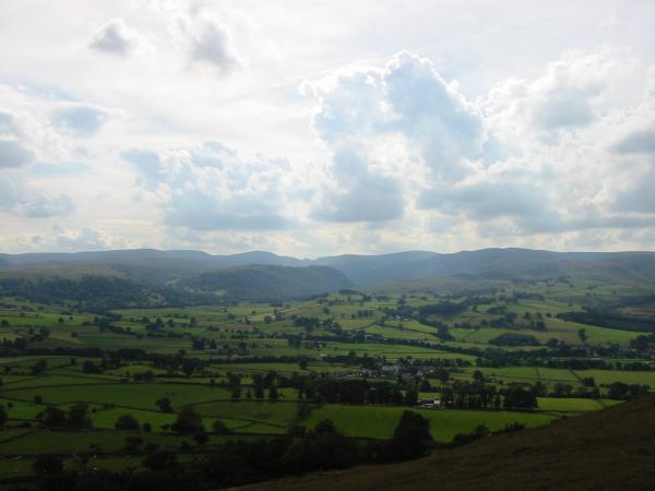 The view west to the High Street fells