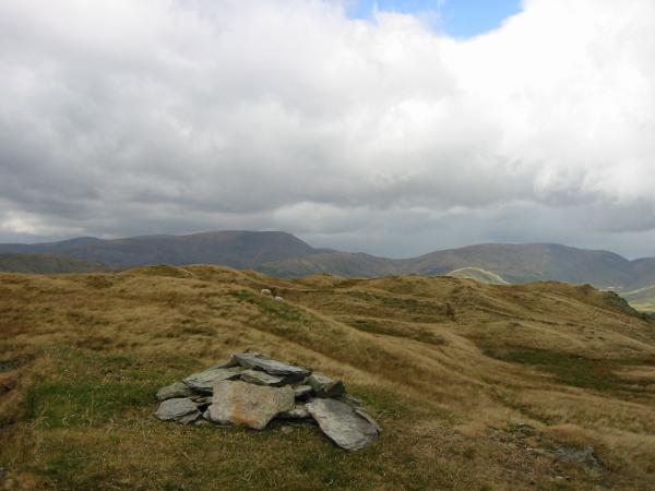 Red Screes and Caudale Moor from the summit of Sour Howes