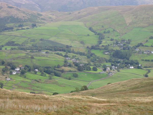Kentmere village from the descent