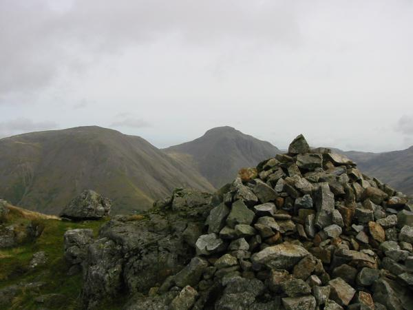 Kirk Fell and Great Gable from Yewbarrow summit