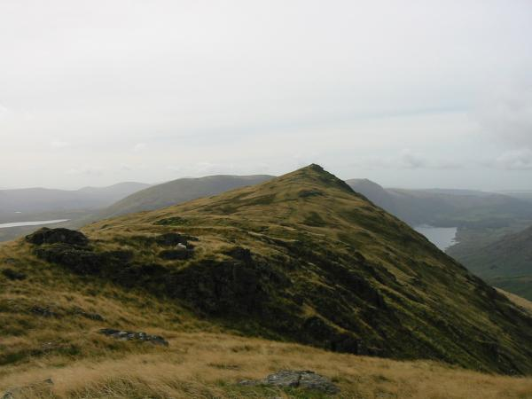 Looking back to the main summit from the north top