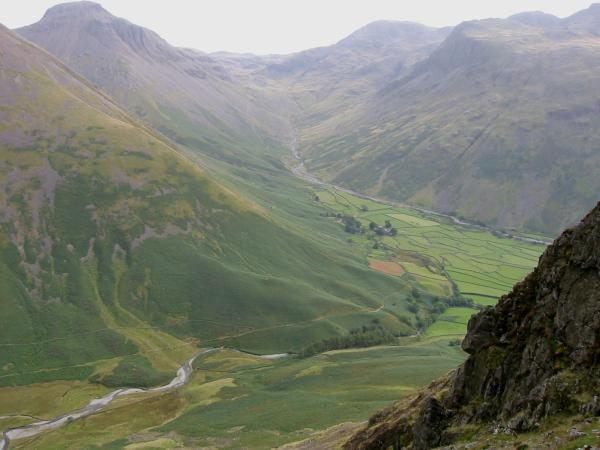 Wasdale Head from the descent to Dore Head