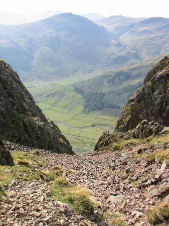 Pike O' Blisco from the top of South Scree, Pike O' Stickle