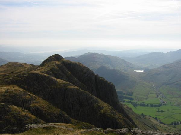 Loft Crag and Gimmer Crag from Pike O' Stickle