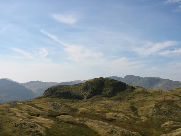 Loft Crag from the ascent of Harrison Stickle