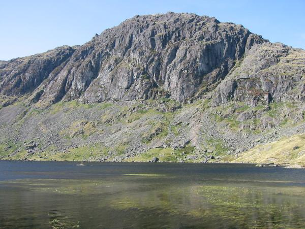 Pavey Ark seen across Stickle Tarn