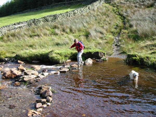 Crossing Mosedale Beck