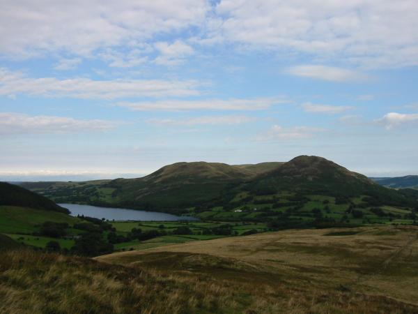 Loweswater, Darling Fell and Low Fell from the ridge