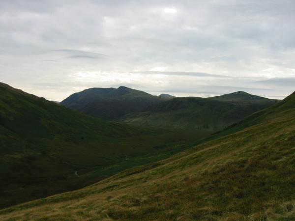 Mosedale with Red Pike (Buttermere) and Starling Dodd as it starts to cloud over