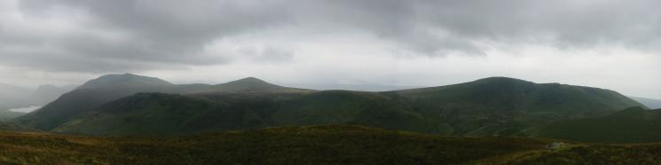 Red Pike, Starling Dodd and Great Borne from Hen Comb summit