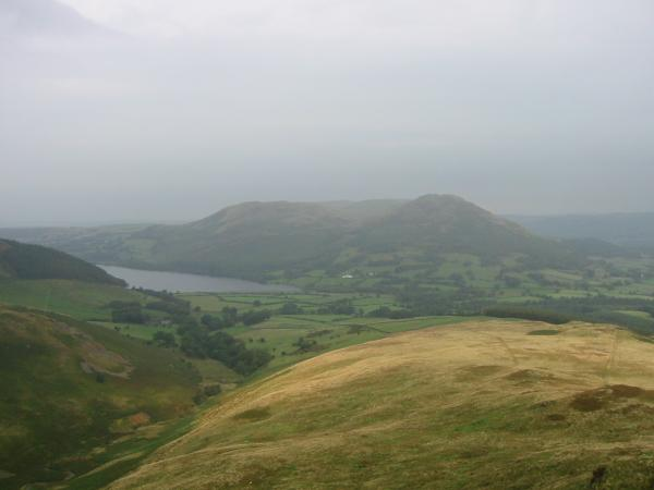 Loweswater, Darling Fell and Low Fell from the ridge on our return, the blue sky has been replaced with grey