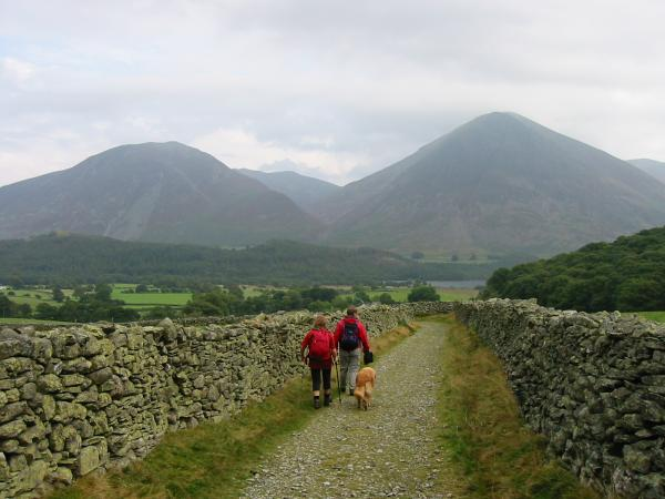 Whiteside and Grasmoor as we head back to Loweswater