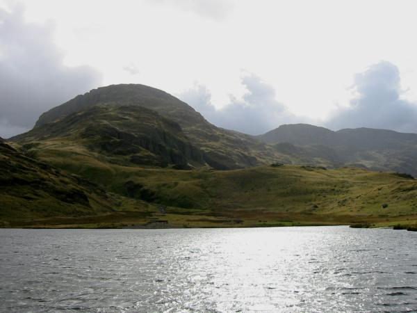 Great End, Broad Crag and Scafell Pike from Styhead Tarn
