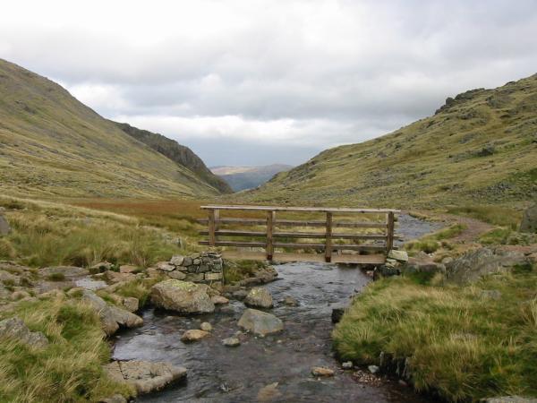 The Bridge across Styhead Gill