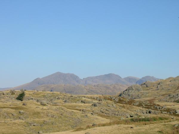 The Scafells - Slight Side, Scafell, Scafell Pike, Broad Crag and Ill Crag