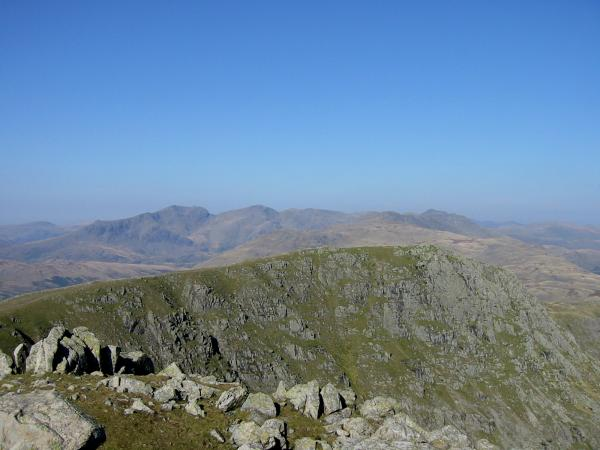 Looking back to Great Carrs from Swirl How
