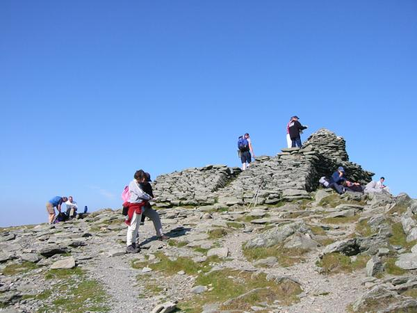 Coniston Old Man's giant summit cairn