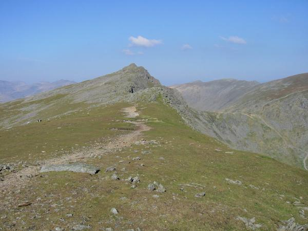 Looking back to Dow Crag from the ridge to Buck Pike