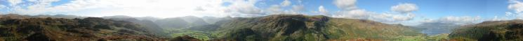 360 Panorama from Grange Fell (King's How top)