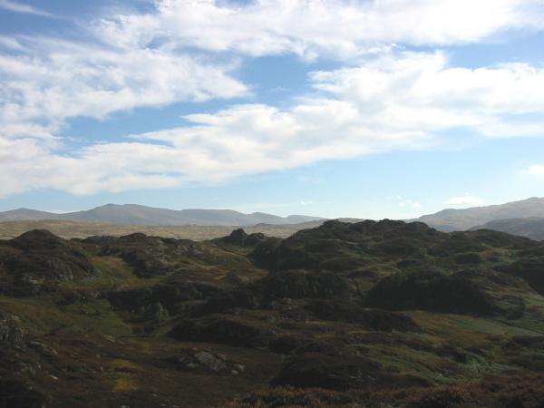 Looking across to Brund Fell with the Helvellyn Range in the distance