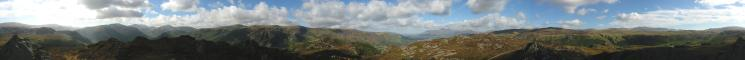 360 Panorama from Grange Fell (Brund Fell top)