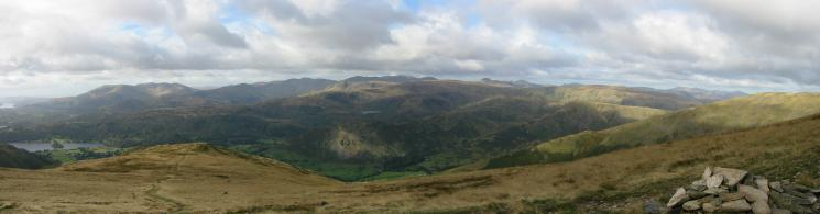 The view west from the ridge to Great Rigg