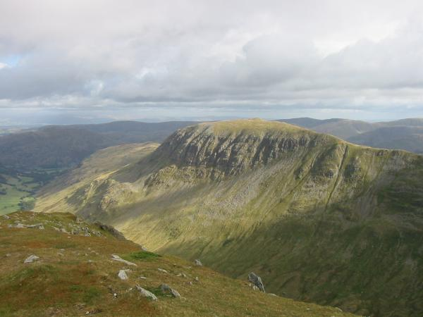 Saint Sunday Crag from the summit of Dollywaggon Pike
