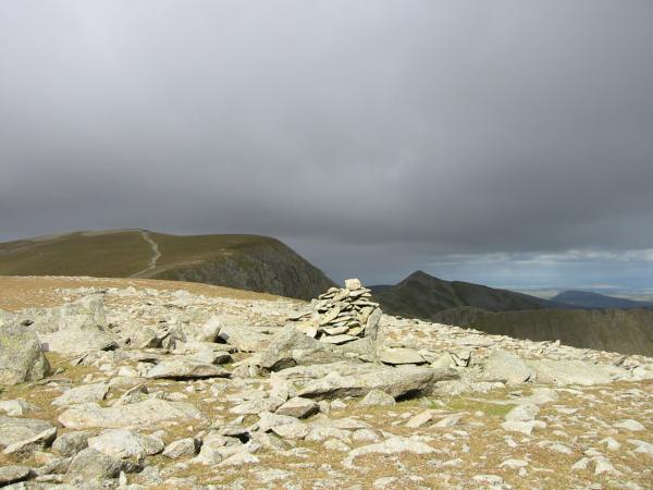 Helvellyn and Catstycam from Nethermost Pike's summit