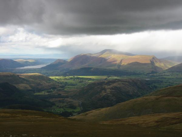 Looking over High Rigg to Skiddaw