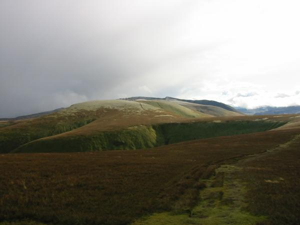 The view back south from the ascent of Great Dodd