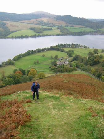 The steep ascent of Sleet Fell with Sandwick below