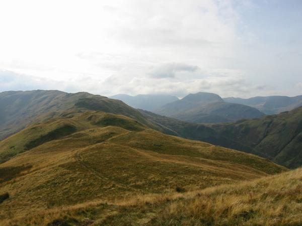 Looking back along the ridge