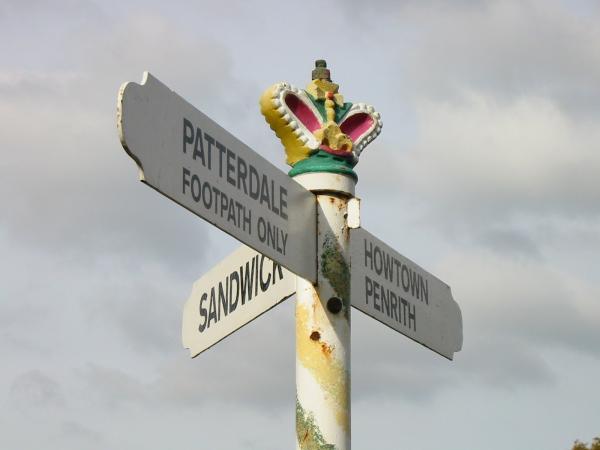 Elaborate road sign in Boredale