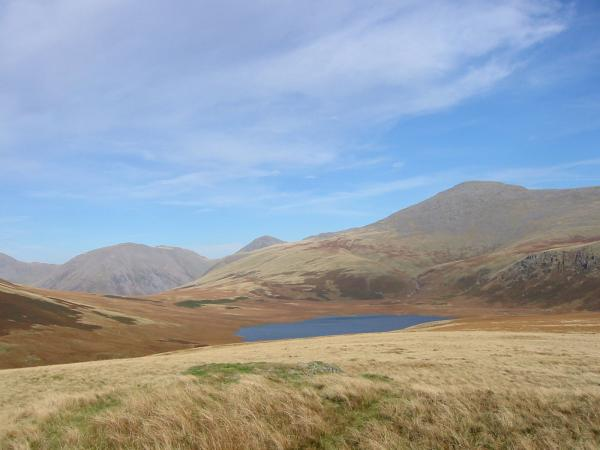 Kirk Fell, Great Gable, Scafell and Burnmoor Tarn from Boat How