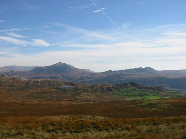 Harter Fell with Eel Tarn in front and Crook Crag