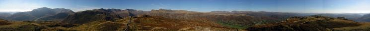 360 Panorama from Lingmoor Fell's summit