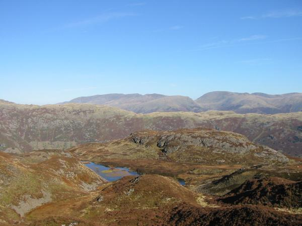 Looking over Lingmoor Tarn towards Helvellyn