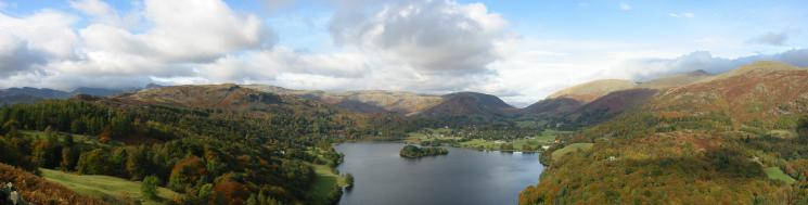 Grasmere panorama from the ascent of Loughrigg Fell