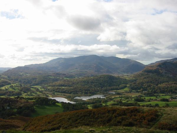 Elter Water and the Coniston Fells from Loughrigg Fell summit