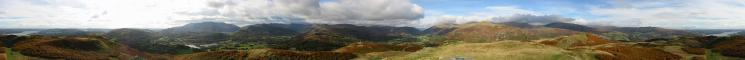 360 Panorama from Loughrigg Fell's summit