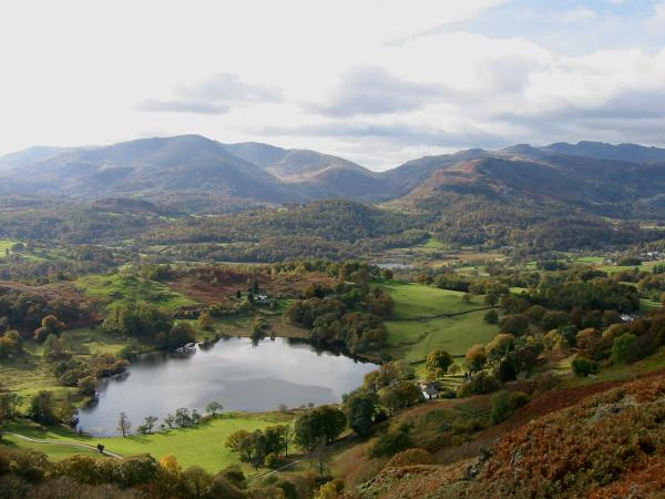Loughrigg Tarn with Wetherlam behind