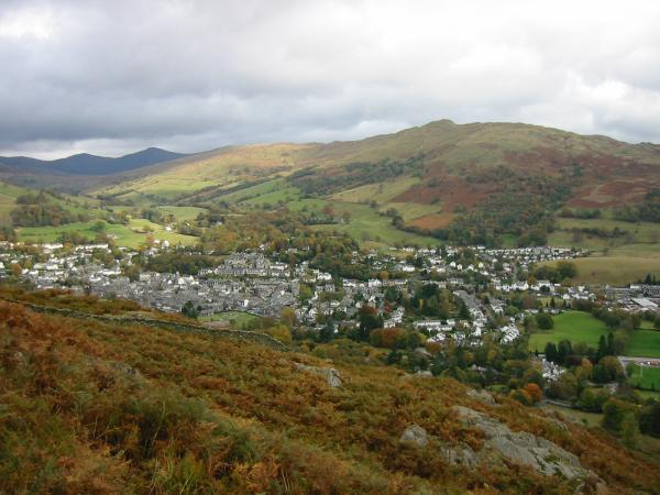 Looking down on Ambleside from Todd Crag