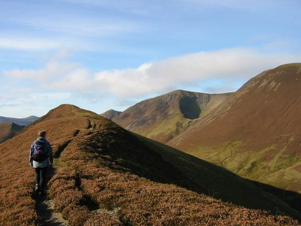 Heading for Ard Crags' summit