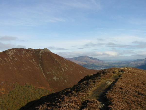 Causey Pike with Blencathra in the distance