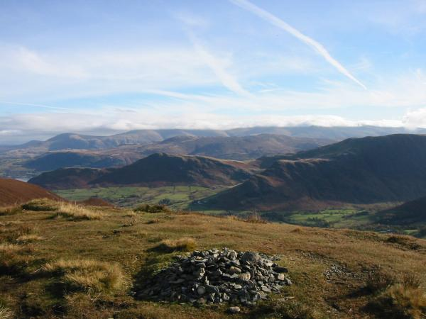 The view east from Ard Crags' summit