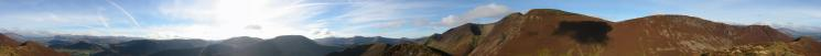 360 Panorama from Ard Crags' summit