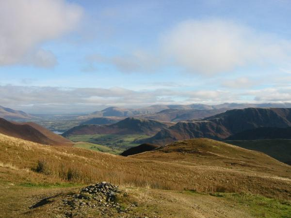 The view east from Knott Rigg summit