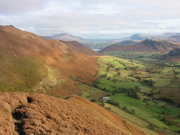 The ridge down to Keskadale Farm